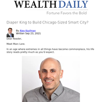 Diaper King to Build Chicago-Sized Smart City?