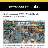Retail Industry and COVID: What is The Jobs Outlook for Large Businesses?