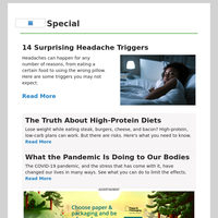 14 Surprising Headache Triggers