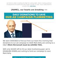 [harsh reality] → Mark Kelly needs your help