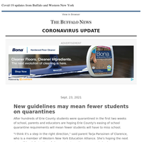 Covid-19: New guidelines may mean fewer students on quarantines
