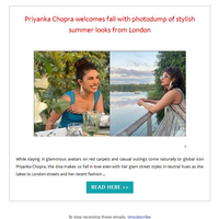 Hi {NAME}, Priyanka Chopra welcomes fall with photodump of stylish summer looks from London