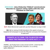 Amy Klobuchar & Joe Manchin SAVE voting rights?!