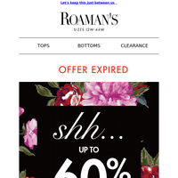 LAST CHANCE: Your secret 60% off expires at midnight