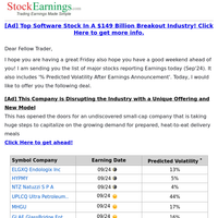 Your Notable Earnings Report (Sep 24)
