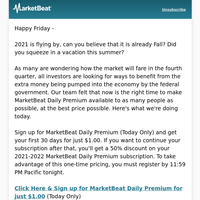 End Of Summer Sale (MarketBeat Daily Premium)