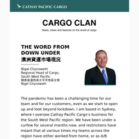 A Message from Nigel Chynoweth,  Cathay Pacific Cargo