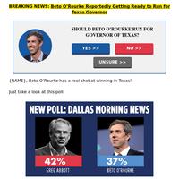 Governor Beto O'Rourke?!?