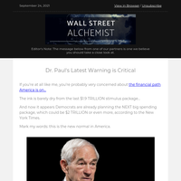 Dr. Ron Paul goes on record with currency issue