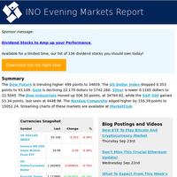 USD -0.353 Nas +155.39 Gold -22.170 S&P +53.34 Dow +506.50 Dowfut +499