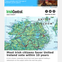 Most Irish citizens favor United Ireland vote within 10 years