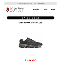⚡ YOUR DAILY DEAL: $49.99 Men's 410v6 Trail