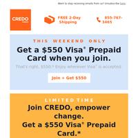 Don't disregard this $550 Visa Prepaid Card