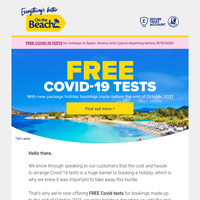 FREE Covid tests up to Summer '22!