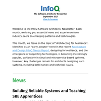 The Software Architects' Newsletter September 2021