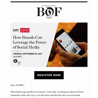 Next Week on #BoFLIVE: How Brands Can Leverage the Power of Social Media