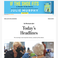 Friday's Headlines: Pfizer booster now available to older Americans and those at higher-risk