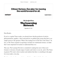 Learning Network: New Weekly Accessible Activities for Readers and Writers