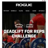 The Rogue Deadlift for Reps Challenge Starts Now - Register and Submit Your Score