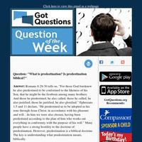 QOTW - What is predestination? Is predestination biblical?