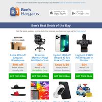 Ben's Best Deals: 40% off Amazon Warehouse - $27 Weed Burner - $20 Puma Sandals (2-pairs) - $54 Logitech Webcam - $55 Panasonic Shaver