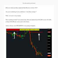 Was The Bitcoin Crash This Morning Telegraphed?