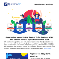 What's new with QuestionPro in September: Major enhancements and news
