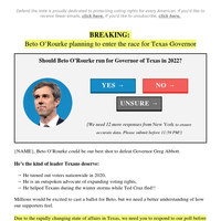 Beto O'Rourke just hinted at a MAJOR announcement...