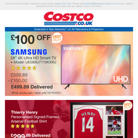 """£100 OFF Samsung 58"""" 4K UHD TV NOW £499.89 
