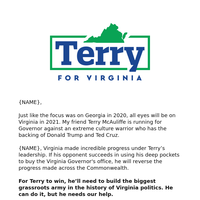 Virginia is counting on you
