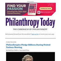 Philanthropies Pledge Billions During United Nations Meeting