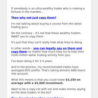 😎 How to copy smart traders for $3,250 average profits 😎