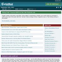 🌎 MarketBeat Dividend Advisor for 9/24/2021