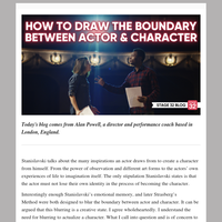 How to Draw the Boundary Between Actor and Character