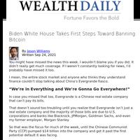 Biden White House Takes First Steps Toward Banning Bitcoin