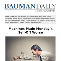 Machines Made Monday's Sell-Off Worse