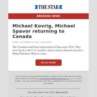 Michael Kovrig, Michael Spavor returning to Canada