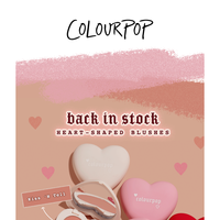 RESTOCKED! heart-shaped blushes! ❤️