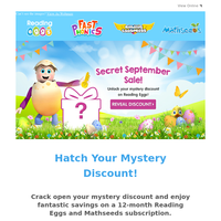🎁Try your luck now! Hatch Your Mystery Discount