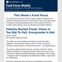 Fund Focus Weekly: China Is Too Big To Fail, Evergrande Is Not