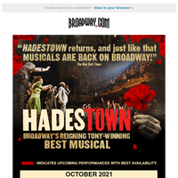 HADESTOWN is Back on Broadway! Get Tickets Now