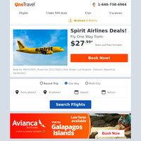 Spirit Airlines Deals: Fly from $27.99