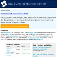 Nas -4.54 Dow +33.18 Gold -2.335 S&P +6.50 USD +0.206 Dowfut +25