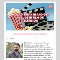 {NAME} find out how to get ANY job in the TV & Film Industry