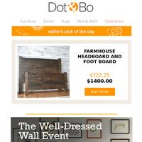 Editor's Pick: Farmhouse Headboard and Foot board