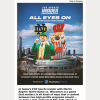 👀  All Eyes On Notre Dame-Wisconsin This Weekend