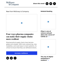 Four ways pharma companies can make their supply chains more resilient