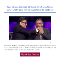 Hi {NAME}, Jackie Shroff reveals how Suniel Shetty gave him his house for dad's treatment
