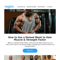Gain muscle and strength with a deload week