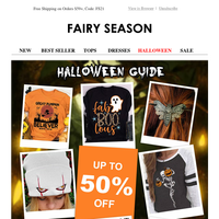 A frightfully good offer - Up to 50% off Halloween.